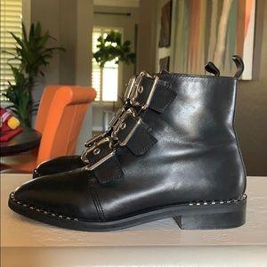Steve Madden combat buckle boots